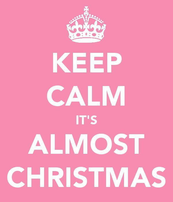christmas, girly, keep calm, pink, pretty