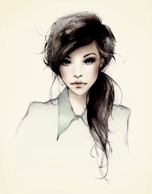 art, drawing, face, fashion, girl