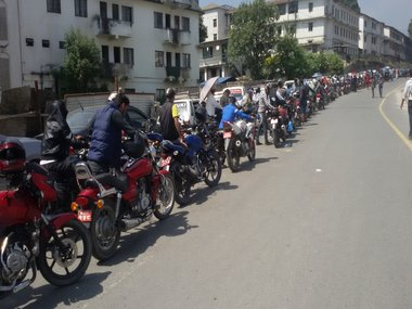 India's unofficial blockade has caused a fuel crisis in the Himalayan Country. Pictures by Jessica Tradati