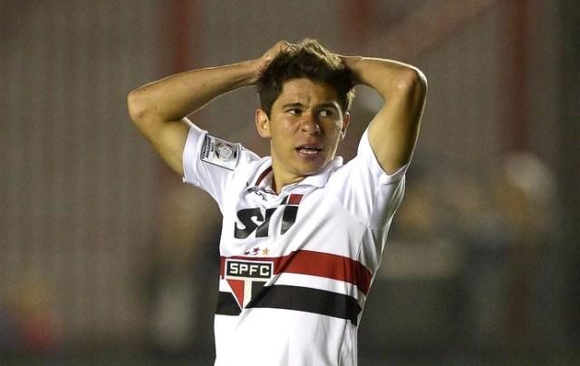 Osvaldo São Paulo Arsenal de Sarandí Libertadores (Foto: AFP)
