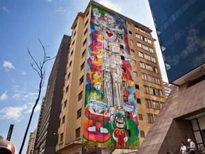 Painel de grafite na avenida Paulista, na região central de São Paulo (Foto: Divulgação)