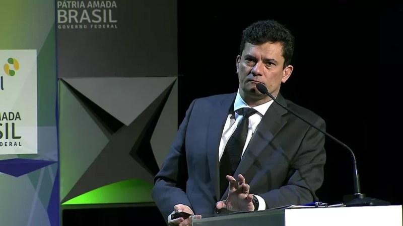 Sérgio Moro em Fórum de Investimentos Brasil 2019    — Foto: Reprodução/TV Globo