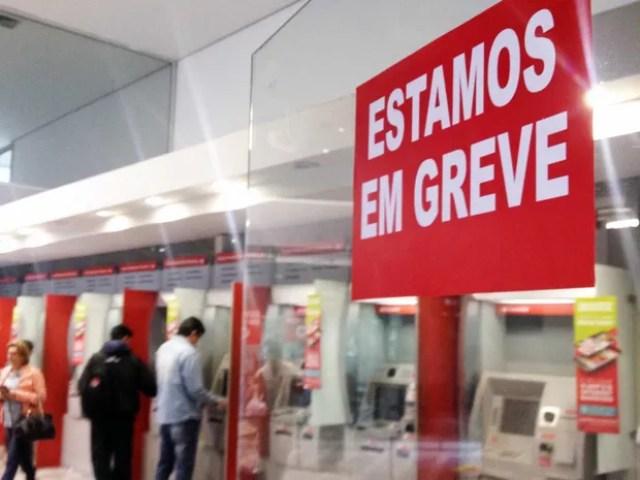 Bancários decretaram greve a partir desta terça-feira (6) (Foto: Heloise Hamada/G1)
