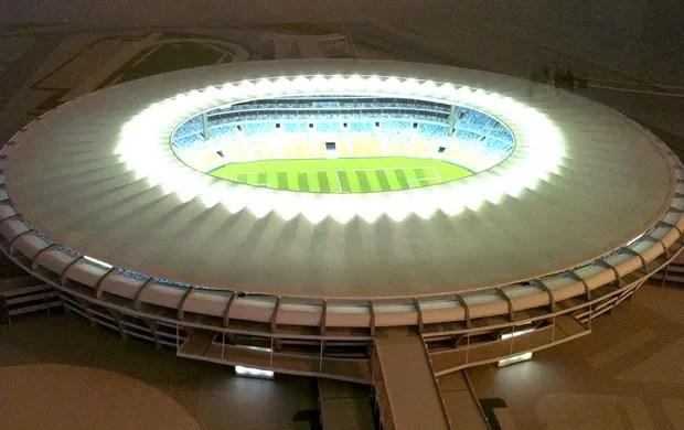 maquete do novo estádio do Maracanã (Foto: Felippe Costa / Globoesporte.com)