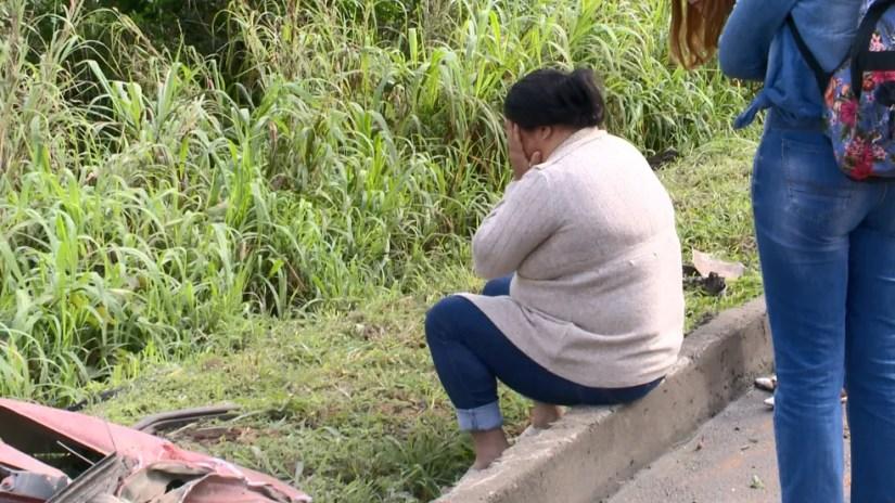 Esposa da vítima esteve no local e reconheceu o homem, no ES — Foto: Reprodução/ TV Gazeta