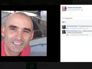 O corpo de Nabor Oliveira foi encontrado na área da piscina no prédio (Foto: Reprodução / Facebook)