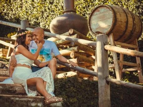 Ítallo tem leucemia e fez ensaio fotográficom com a esposa em Petrolina, PE (Foto: Johnnis Alves/ Arquivo pessoal)