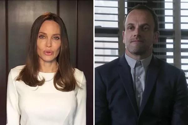 Actors Angeline Jolie and Jony Lee Miller (Photo: Getty Images/Disclosure)