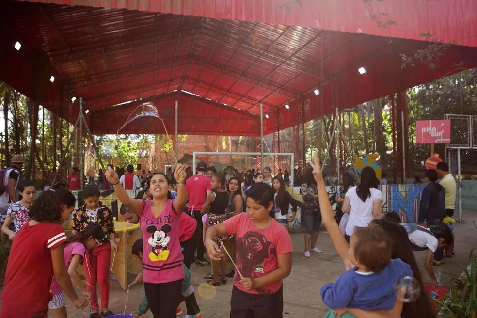 Brincadeiras e muita diversão no Parque Chico Mendes (Foto: Fernando Pilatos/Globo)