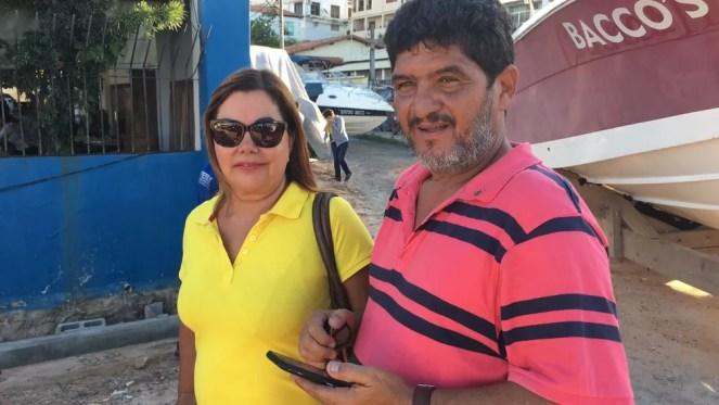 Casal Maria da Glória e José Carlos tinham uma lancha de R$ 90 mil no local (Foto: Alan Alves/ G1)