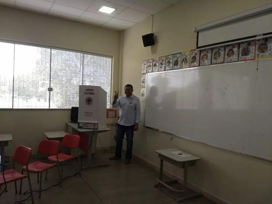 Voto Marlon Reis Eleições 2018 Tocantins — Foto: Gabriela Lago/G1