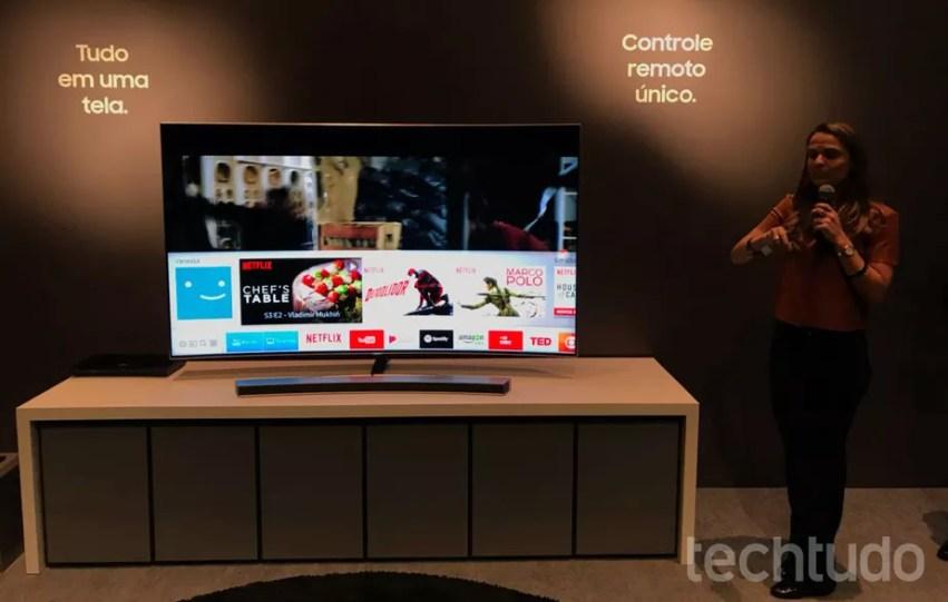 Smart TVs Samsung QLED têm controle remoto único e preço de até R$ 87 mil