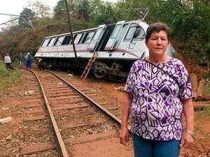 Geralda dos Santos se recorda de acidente semelhante ocorrido em 1959, na Estrada de Ferro Campos do Jordão (Foto: Renato Ferezim/G1)