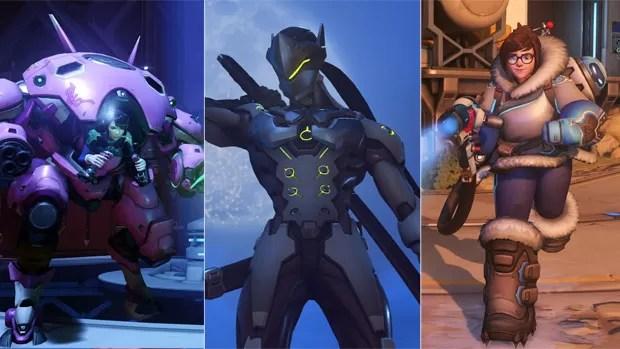 D.Va, Genji e Mei são os três novos personagens de 'Overwatch', da Blizzard (Foto: Divulgação)