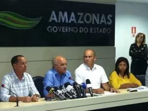 Governador admitiu que lei de promoções precisa ser revisada (Foto: Camila Henriques/G1 AM)