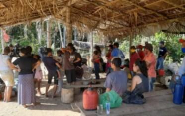 Reintegração de posse é realizada na Zona Rural de Machadinho do Oeste, RO — Foto: Reprodução