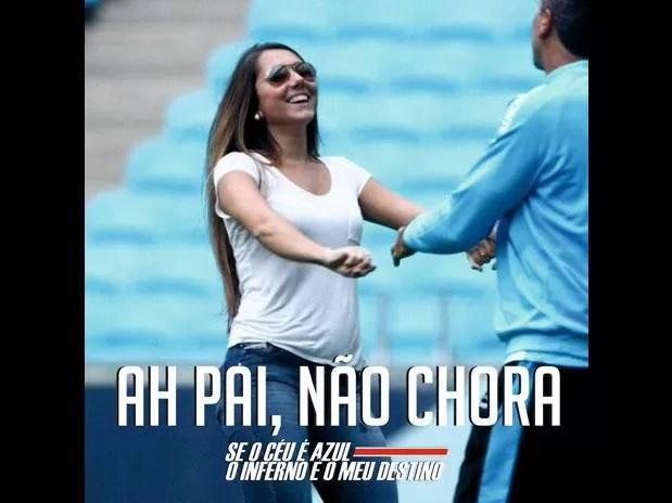 Colorados fazem piadas com a eliminação do Grêmio (Foto: Reprodução/Facebook)