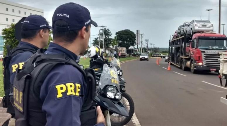 PRF durante Operação Finados em MS  — Foto: PRF / Divulgação