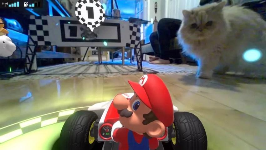"""Mario Kart Live: Home Circuit faz """"sucesso"""" entre gatos de estimação — Foto: Reprodução/Unranked Podcast"""