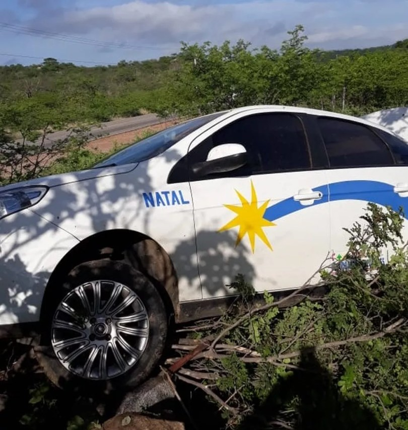 Taxista assaltado e feito refém por criminosos em Natal foi levado à região Seridó potiguar pelos criminosos — Foto: Edimilson Souza