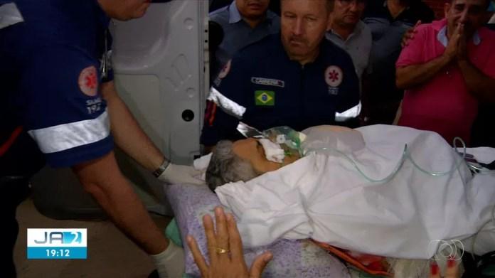 Prefeito foi levado ao HGP após ser baleado na cabeça — Foto: Reprodução/TV Anhanguera
