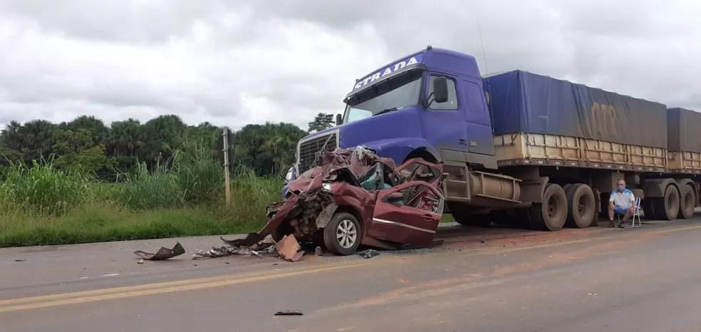 Bebê de seis morre após acidente grave na BR-364, em Rondônia — Foto: Reprodução/Redes Sociais