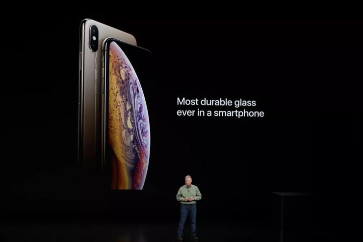 Philip W. Schiller, vice-presidente sênior de marketing mundial da Apple, fala sobre o novo iPhone XS e XS Max. — Foto: Stephen Lam/Reuters