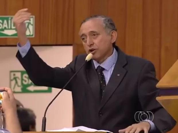 Presidente da Câmara, Anselmo Pereira (PSDB), admite ter dito frase polêmica Goiânia Goiás (Foto: Reprodução/TV Anhanguera)