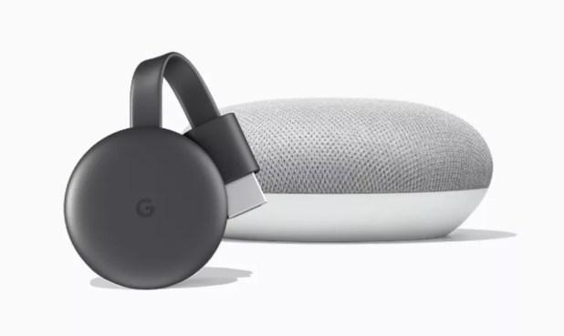Chromecast 3 pode ser controlado por voz com caixa de som smart Google Home — Foto: Divulgação/Google