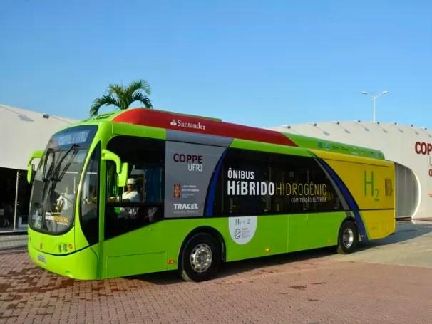 ônibus a hidrogênio (Foto: Divulgação/Coppe/UFRJ)