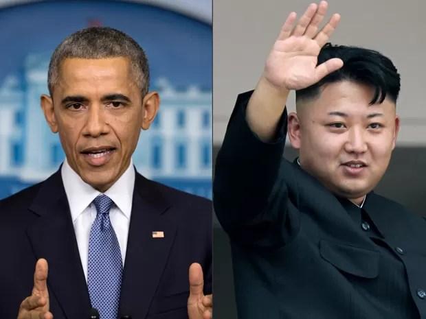 Ataque a Sony provocou 'bate-boca' entre Obama e Kim Jong-un  (Foto: AP)