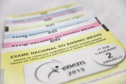 Provas do Exame Nacional do Ensino Médio (Foto: Fábio Tito/G1)