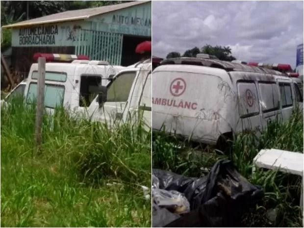 Ambulâncias usadas nas fraudes  (Foto: Polícia Federal/Divulgação)