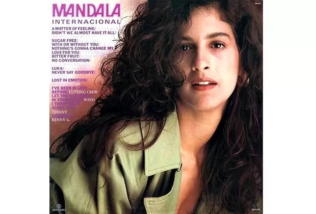 Lúcia Veríssimo na capa do disco Mandala Internacional
