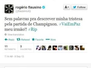 O cantor Rogério Flausino também se manifestou no Twitter.  (Foto: Reprodução/Twitter)