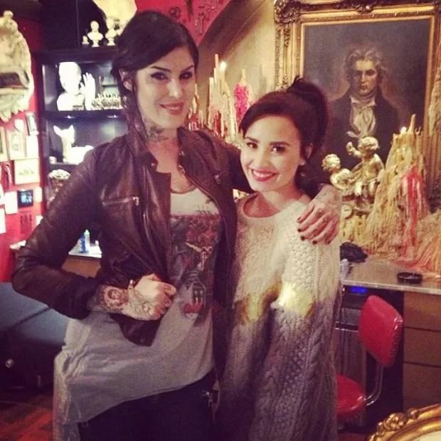Demi Lovato e Kat Von D (Foto: Reprodução)