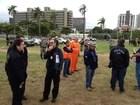 Teste para Fan Fest simula briga e ameaça de bomba em Porto Alegre