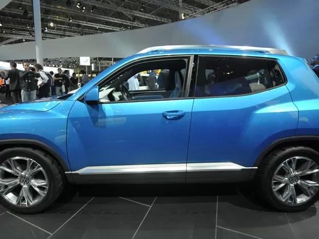 Taigun foi lançado na coletiva da Volkswagen (Foto: Flavio Moraes/G1)