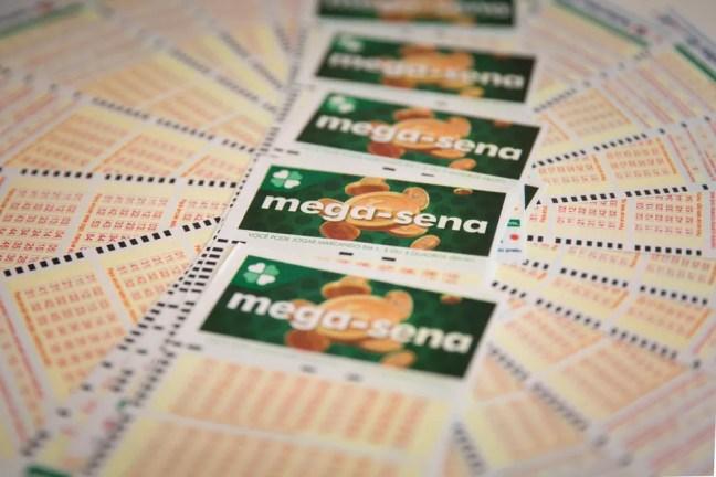 Bilhete volante loteria megasena mega sena versão 2018 — Foto: Marcelo Brandt/G1