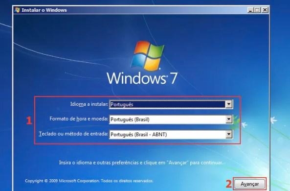 Escolhendo algumas opções de localização do Windows 7 (Foto: Reprodução/Edivaldo Brito)