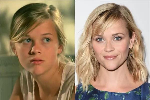Reese Witherspoon começou no cinema com apenas 15 anos. Em 1991, a atriz ganhadora de um Oscar fez seu primeiro trabalho em 'No Mundo da Lua' (Foto: Getty Images e Divulgação)