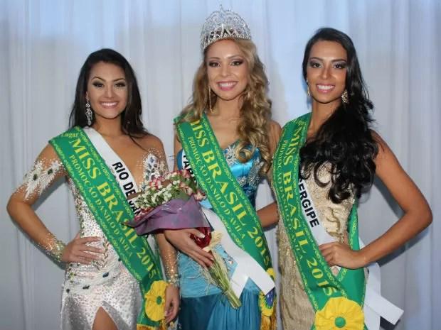 Vanessa e a Miss Rio de Janeiro, Rayssa Armond, e a Miss Sergipe, Saiury Carvalho. (Foto: Octavio D´Avila)