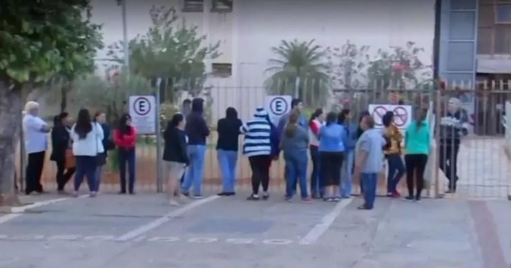 Familiares dos envolvidos participaram do julgamento em Birigui (Foto: Reprodução/TV TEM)