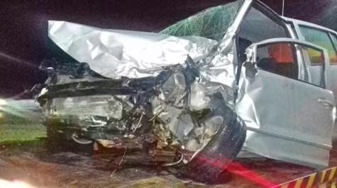 Colisão entre carro e van deixou oito feridos na BR-232, em Tacaimbó — Foto: PRF/Divulgação
