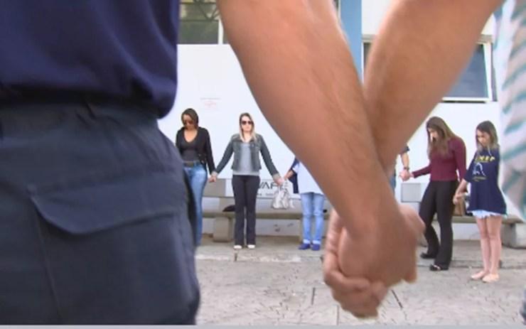 Cerca de 200 pessoas se reuniram no Hemocentro em Rio Preto (Foto: Reprodução/TV TEM)
