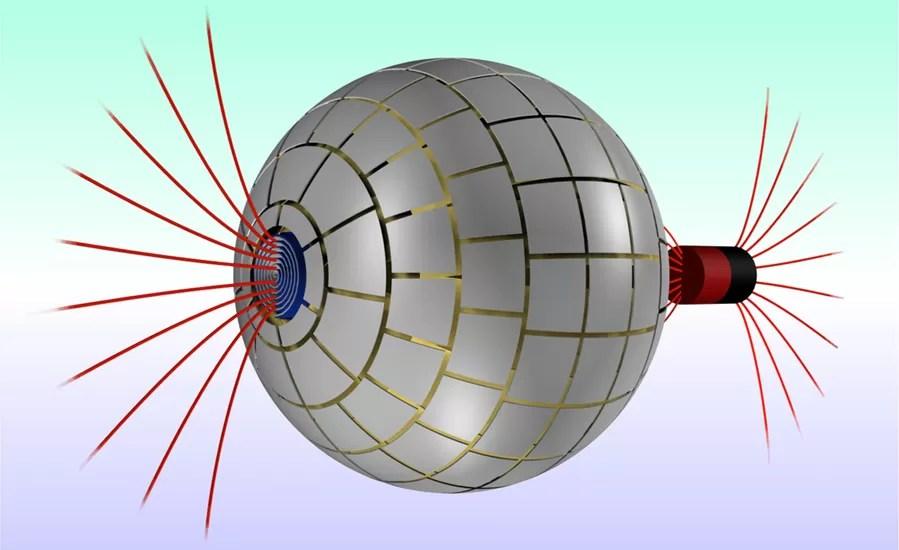Esquema mostra o funcionamento do buraco de minhoca (Foto: Reprodução)