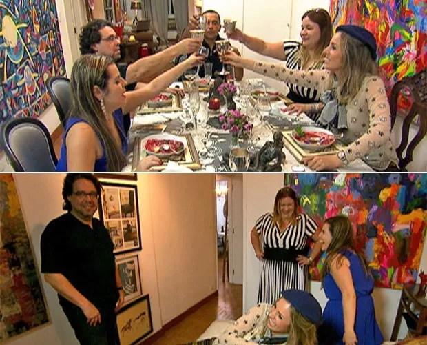 Convidados se divertem no jantar preparado por Ricardo (Foto: Mais Você / TV Globo)