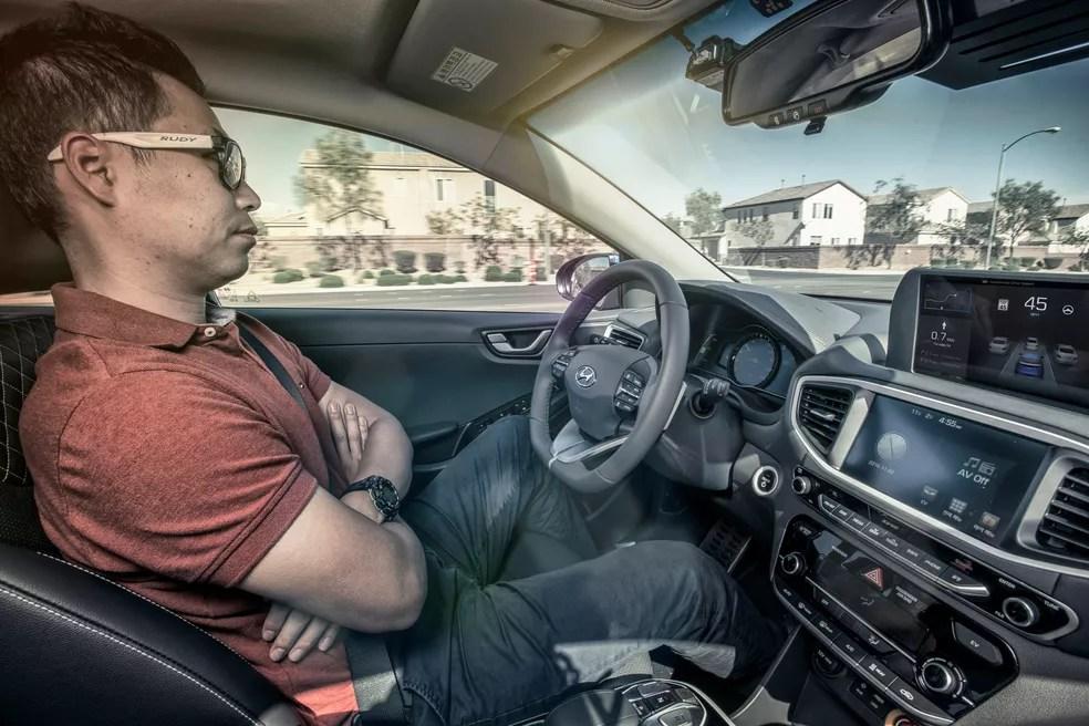 Hyundai faz demonstrações com carro autônomo na CES 2017 (Foto: Divulgação)