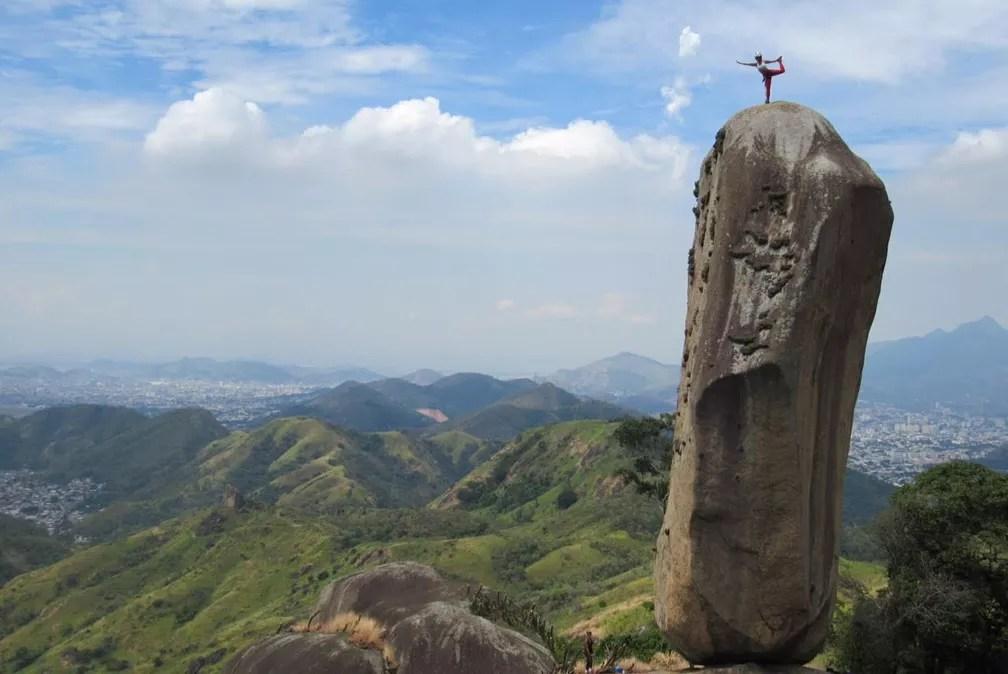 Trilha para Pedra do Osso dura cerca de 2 horas (Foto: Moisés Miranda/Arquivo Pessoal)