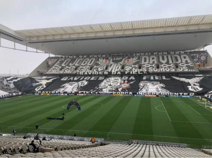 Neo Química Arena antes de Corinthians x Palmeiras — Foto: Marcelo Braga